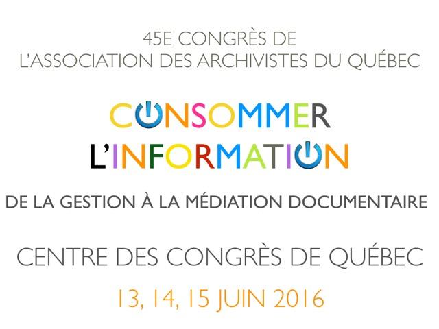 Actes – Congrès 2016